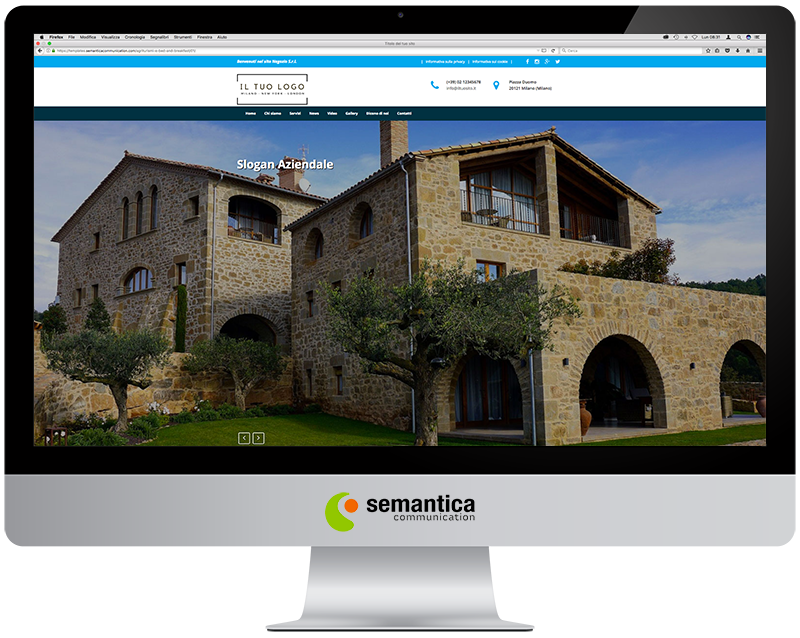 Agriturismi e Bed and Breakfast » Template 01