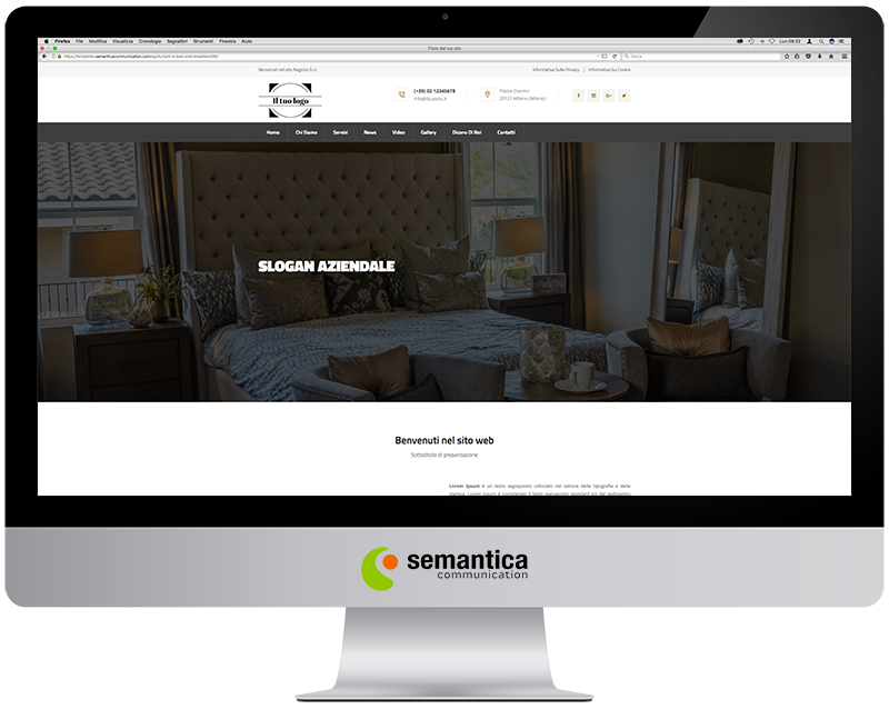 Agriturismi e Bed and Breakfast » Template 06
